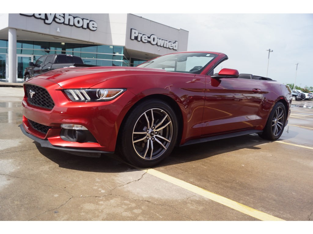 Photo 2017 Ford Mustang RWD EcoBoost Premium Convertible in Baytown, TX. Please call 832-262-9925 for more information.