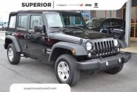 Used 2016 Jeep Wrangler JK Unlimited Unlimited Sport SUV For Sale in the Fayetteville area