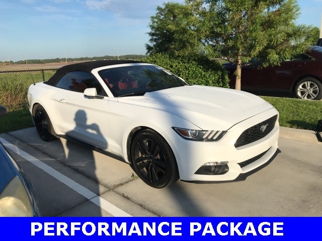 Photo Used 2015 Ford Mustang Ecoboost Premium W Performance Package, Redline L Convertible I-4 cyl in Kissimmee, FL