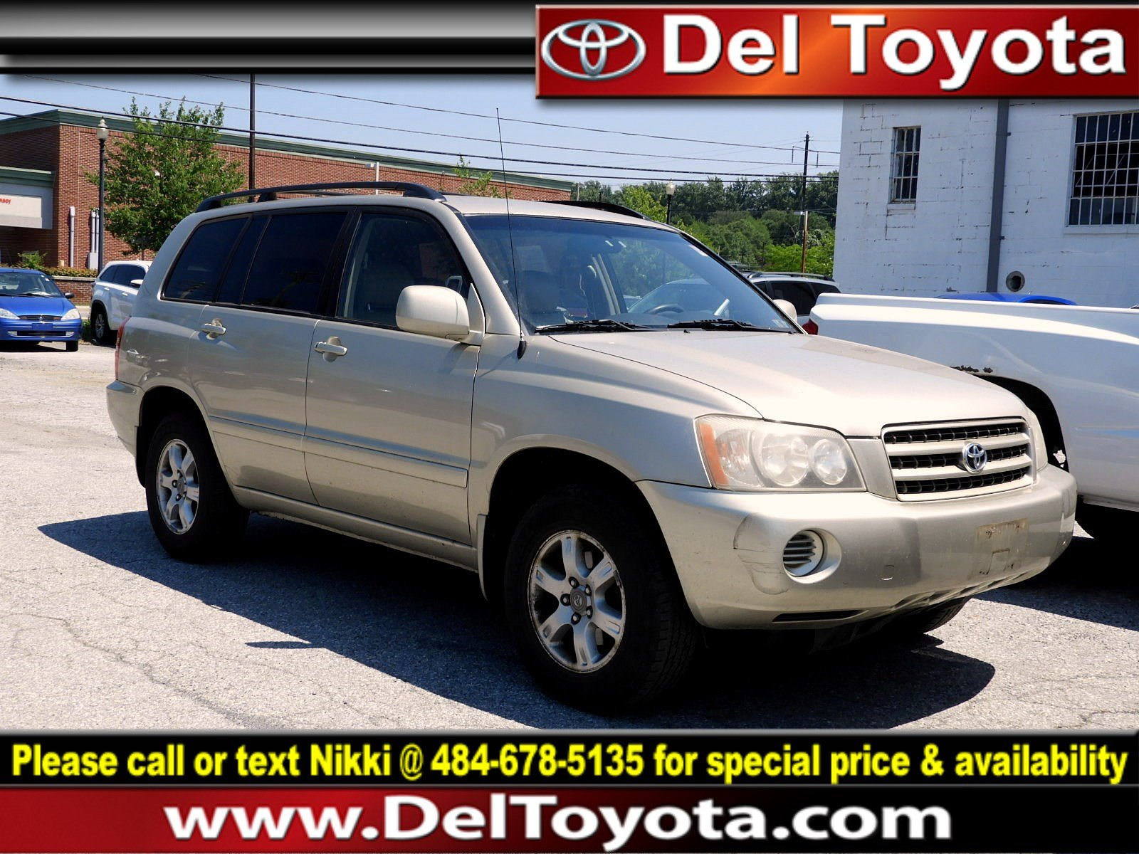 Photo Used 2002 Toyota Highlander For Sale  Serving Thorndale, West Chester, Thorndale, Coatesville, PA  VIN JTEHF21A620050369