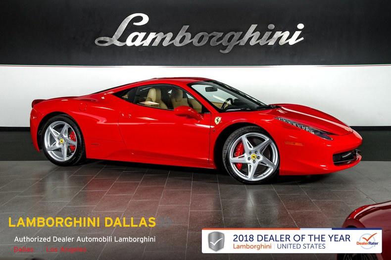 Photo Used 2012 Ferrari 458 Italia For Sale Richardson,TX  Stock LT1147 VIN ZFF67NFA9C0188557