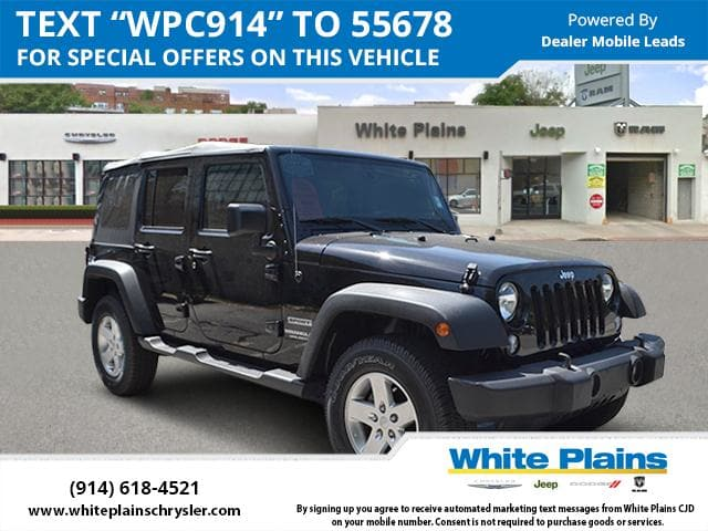 Photo 2015 Jeep Wrangler Unlimited Sport Power Package, Soft Top, Blu Sport Utility in White Plains, NY