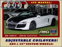 2011 Audi R8 5.2L V10 SPYDER QUATTRO AWD- ADJUSTABLE COILOVERS!