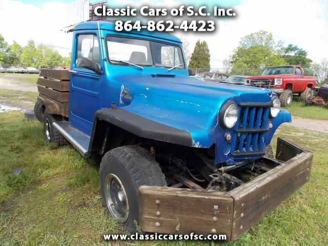 Photo 1955 Jeep Willys Wooden Flat Bed