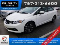 Certified 2015 Honda Civic EX Sedan in Chesapeake, VA