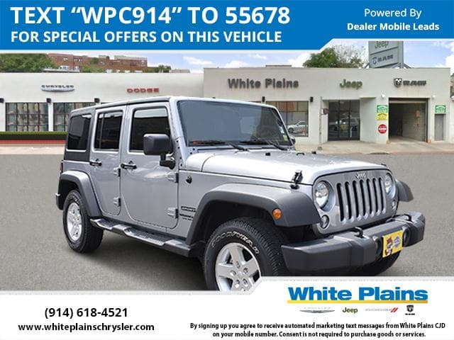 Photo 2015 Jeep Wrangler Unlimited Sport Dual Top, Bluetooth Sport Utility in White Plains, NY