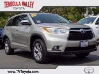 2014 Toyota Highlander LE V6 SUV All-wheel Drive in Temecula