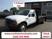 Used 1999 Ford F-550 4x4 Flat Bed Truck