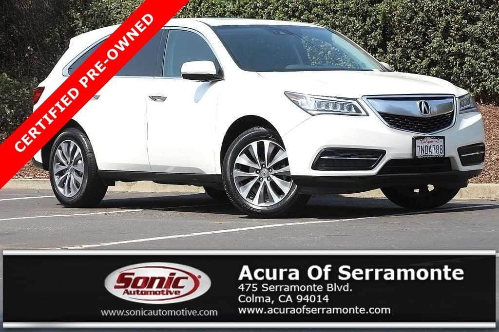 Photo Used 2016 Acura MDX MDX SH-AWD with Technology Package For Sale in Colma CA  Stock PGB029798  San Francisco Bay Area
