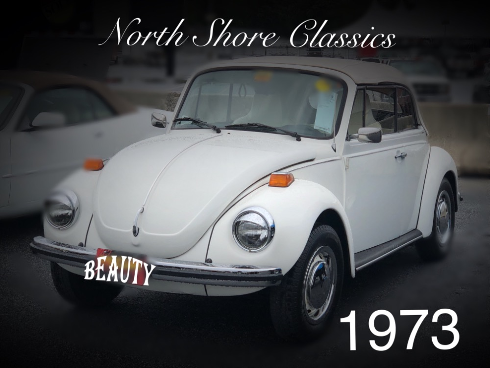 Photo 1973 Volkswagen Beetle -SUPER BEETLE TRIPLE WHITE CLEAN CONVERTIBLE-GREAT CONDITION-
