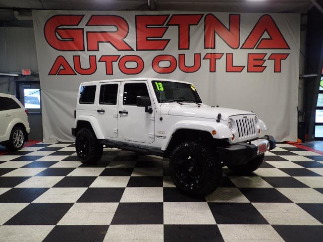 Photo 2013 Jeep Wrangler LIFTED UNLIMITED SAHARA 4 DOOR HARDTOP V6 4X4