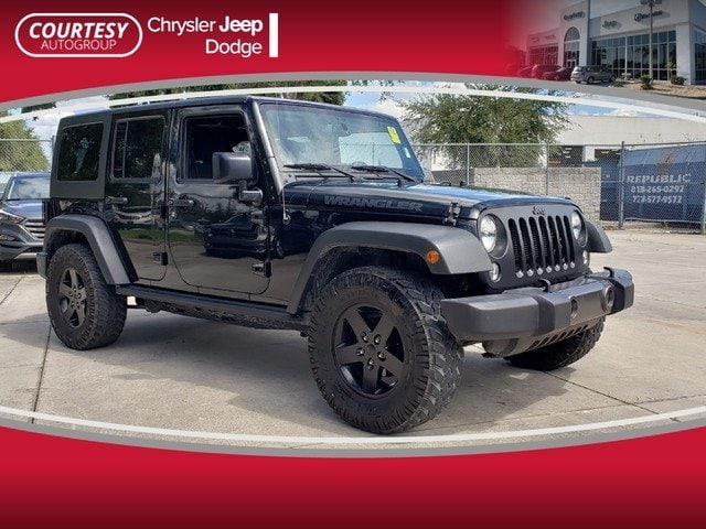Photo Certified 2016 Jeep Wrangler Unlimited Black Bear 4WD Black Bear Ltd Avail in Jacksonville FL