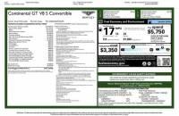 2015 Bentley Continental GTC V8 S MULLINER ($247,335 MSRP)