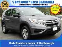 Certified Pre-Owned 2015 Honda CR-V LX SUV near Westborough, MA