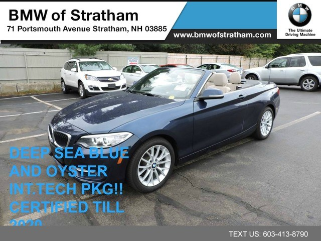 Photo 2016 BMW 228i xDrive Convertible 228i xDrive sport pkg cold weather tech pkg driver Convertible All-wheel Drive