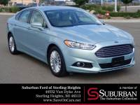 2013 Ford Fusion Hybrid SE Sedan I4 Atkinson-Cycle Hybrid