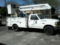 1997 Ford F-Super Duty Chassis Cab bucket Lift Truck