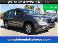 Certified 2015 Honda CR-V LX FWD SUV in Fort Pierce FL