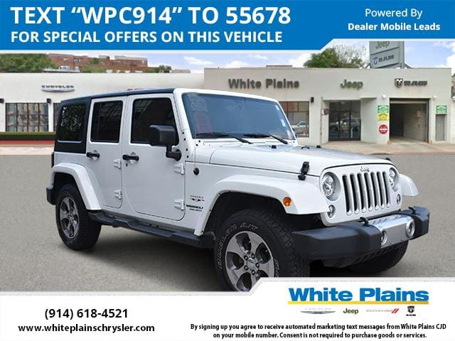 Photo 2017 Jeep Wrangler Unlimited Sahara Bluetooth, Hard Top Sport Utility in White Plains, NY