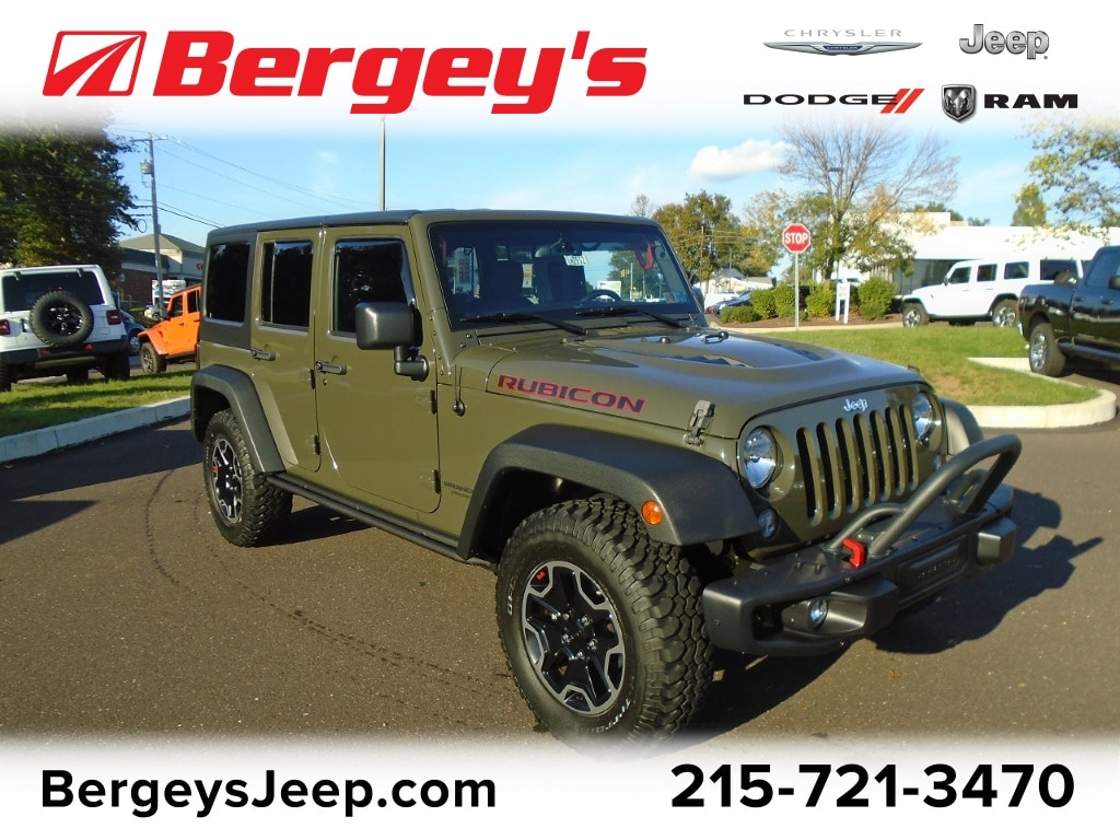 Photo Certified Used 2015 Jeep Wrangler Unlimited 4WD Rubicon Hard Rock Hard Top Auto in Souderton