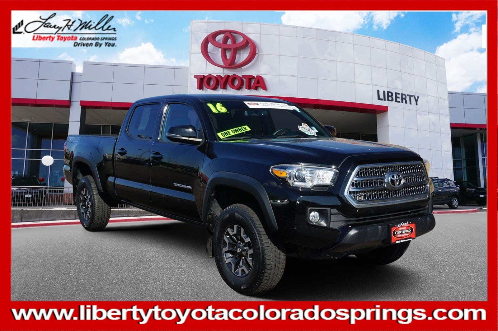 Photo Certified 2016 Toyota Tacoma TRD Off Road 4WD Double Cab LB V6 AT TRD Off Road For Sale in Colorado Springs
