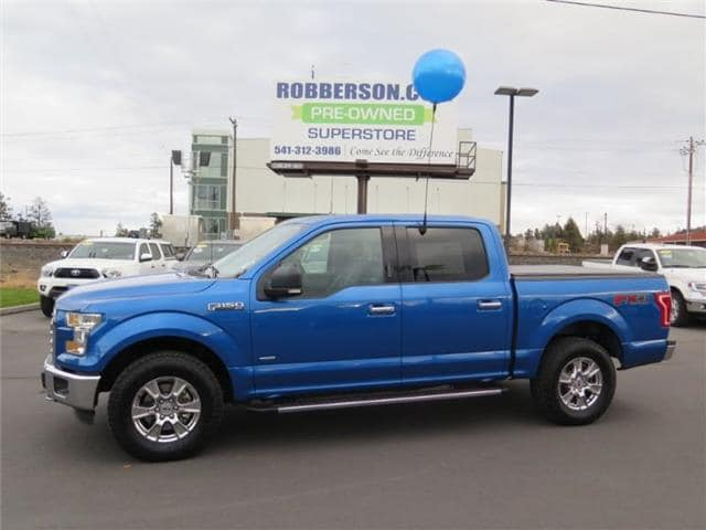 Photo Used 2016 Ford F-150 XLT 4x4 SuperCrew Cab Styleside 5.5 ft. box 145 in Crew Cab Short Bed Truck For Sale Bend, OR