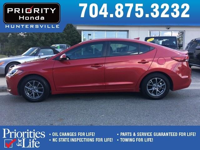 Photo Used 2017 Hyundai Elantra For Sale in Huntersville NC  Serving Charlotte, Concord NC  Cornelius. VIN 5NPD74LFXHH126305