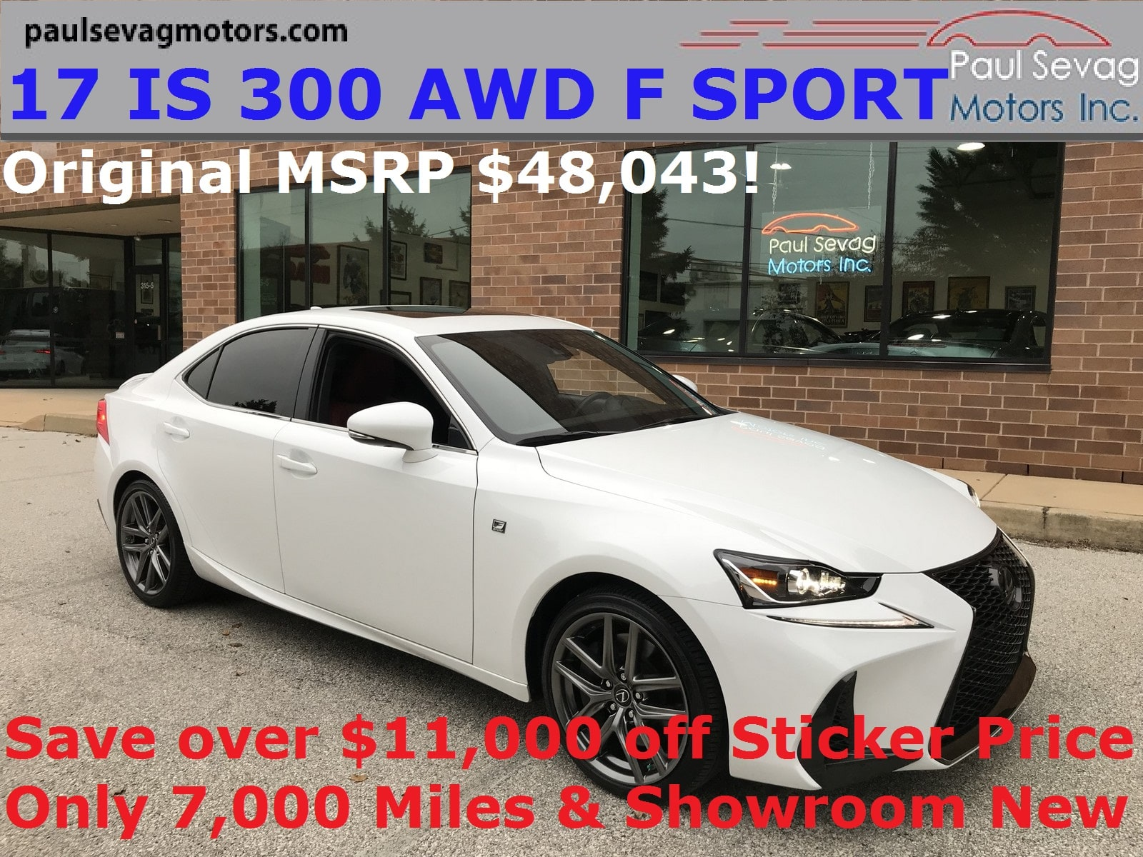 Photo Used 2017 LEXUS IS 300 AWD F SPORT For Sale  West Chester PA