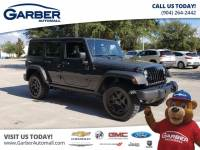 Pre-Owned 2018 Jeep Wrangler JK Unlimited Sport Willy's Edition w/Hardtop 4WD