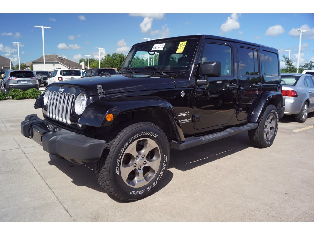 Photo 2017 Jeep Wrangler JK Unlimited 4WD Sahara 4x4 SUV in Baytown, TX Please call 832-262-9925 for more information.