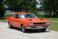 1969 Dodge Super Bee -FACTORY H CODE RAMCHARGER-4 SPEED-NEW HEMI ORANGE PAINT-