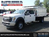 2018 Ford F-450 SD Crew Cab 4x4 XL with 12' Aluminum Landscape Dump