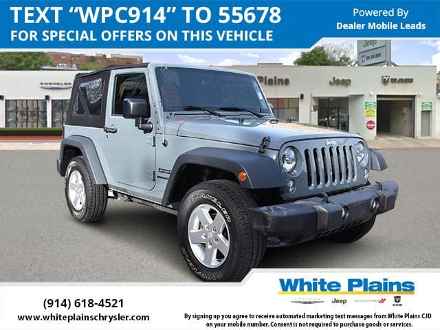 Photo 2015 Jeep Wrangler 4WD 2dr Sport Sport Utility in White Plains, NY