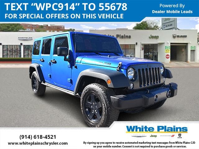 Photo 2016 Jeep Wrangler Unlimited 4WD 4dr Black Bear Ltd Avail Sport Utility in White Plains, NY
