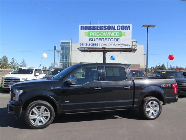 Photo Used 2015 Ford F-150 Platinum 4x4 SuperCrew Cab Styleside 5.5 ft. box 1 Crew Cab For Sale Bend, OR