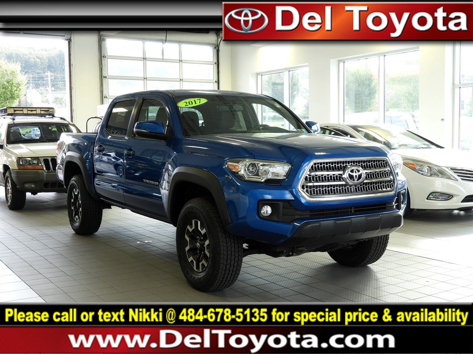 Photo Used 2017 Toyota Tacoma TRD Off Road For Sale in Thorndale, PA  Near West Chester, Malvern, Coatesville,  Downingtown, PA  VIN 5TFCZ5ANXHX054127