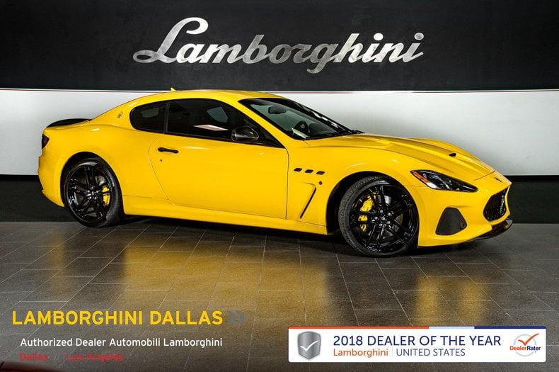 Photo Used 2018 Maserati Gran Turismo MC For Sale Richardson,TX  Stock 19L0127A VIN ZAM45VLA8J0261944