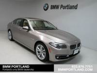 Certified Pre-Owned 2015 BMW 5 Series 4dr Sdn 535i Xdrive AWD Car in Portland
