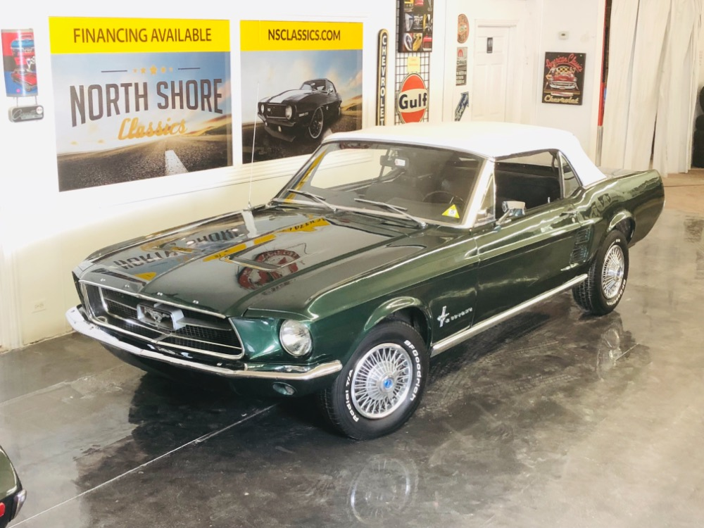Photo 1967 Ford Mustang 289 C Code Power TopPS automatic Highland Green-VIDEO