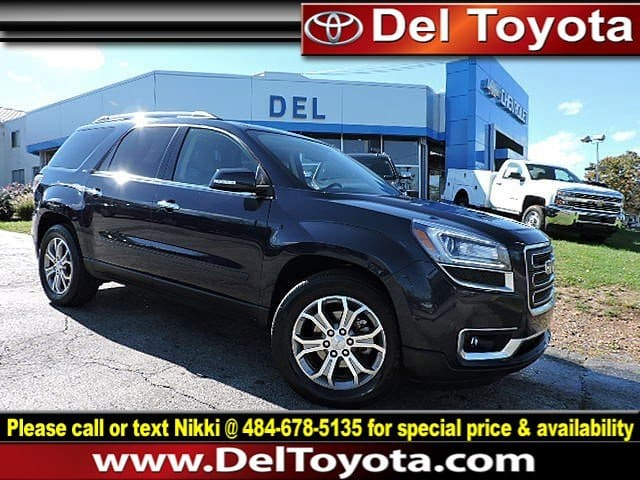 Photo Used 2015 GMC Acadia SLT For Sale in Thorndale, PA  Near West Chester, Malvern, Coatesville,  Downingtown, PA  VIN 1GKKVRKD7FJ106001