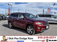 2016 Jeep Grand Cherokee RWD 4dr Overland suv for sale in El Paso