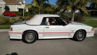 1987 Ford Mustang -GT CONVERTIBLE TRIPLE WHITE ONLY 17k MILES-