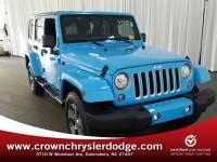 Certified 2017 Jeep Wrangler JK Unlimited Sahara 4x4 SUV in Greensboro NC