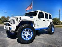 Used 2018 Jeep All-New Wrangler Unlimited WHITE AND BLUE CUSTOM JL LEATHER LIFTED LOADED