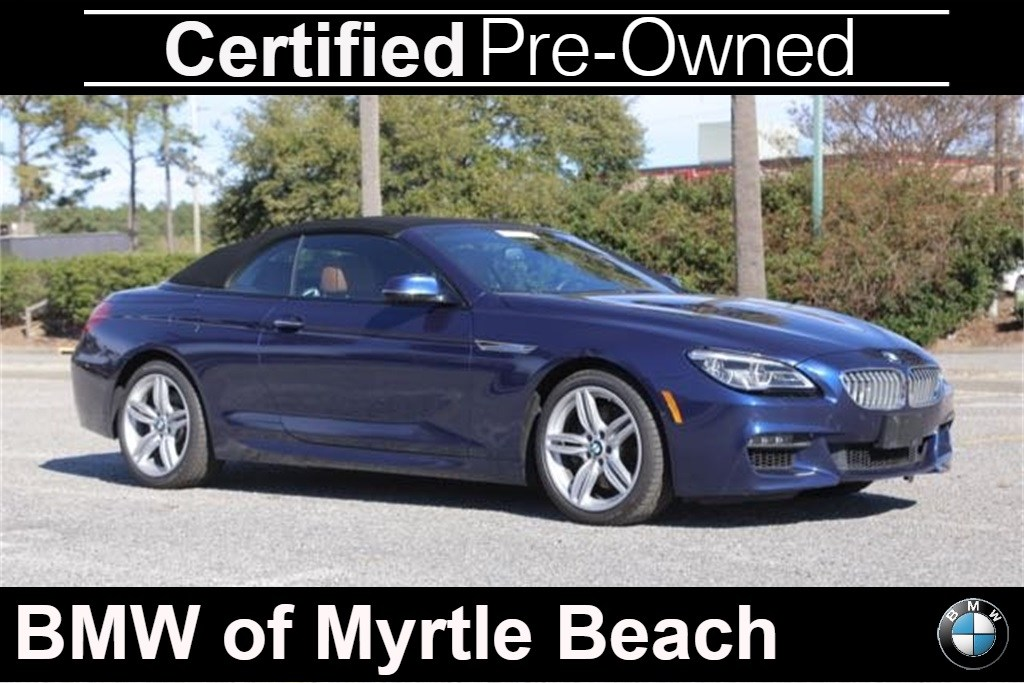 Photo Certified Used 2016 BMW 6 Series 650i Xdrive Convertible For Sale in Myrtle Beach, South Carolina