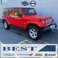 CERTIFIED PRE-OWNED 2015 JEEP WRANGLER UNLIMITED SAHARA 4WD