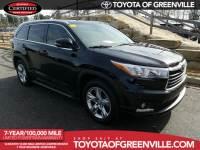 Certified 2014 Toyota Highlander Limited V6 SUV in Greenville SC