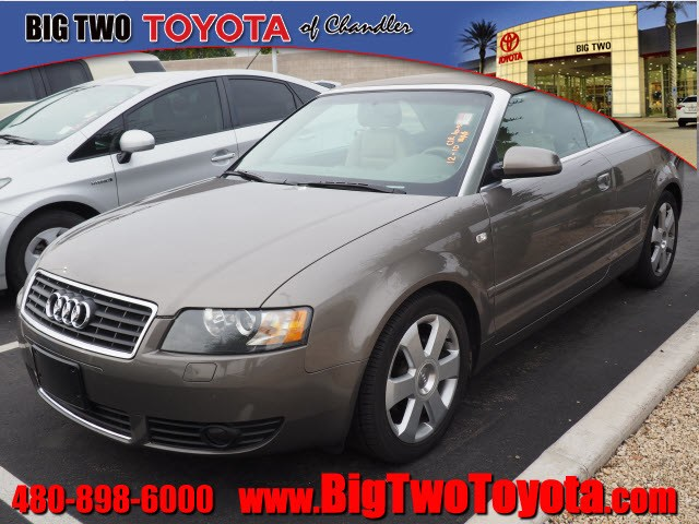 Photo Used 2004 Audi A4 1.8T 1.8T Turbo Cabriolet in Chandler, Serving the Phoenix Metro Area