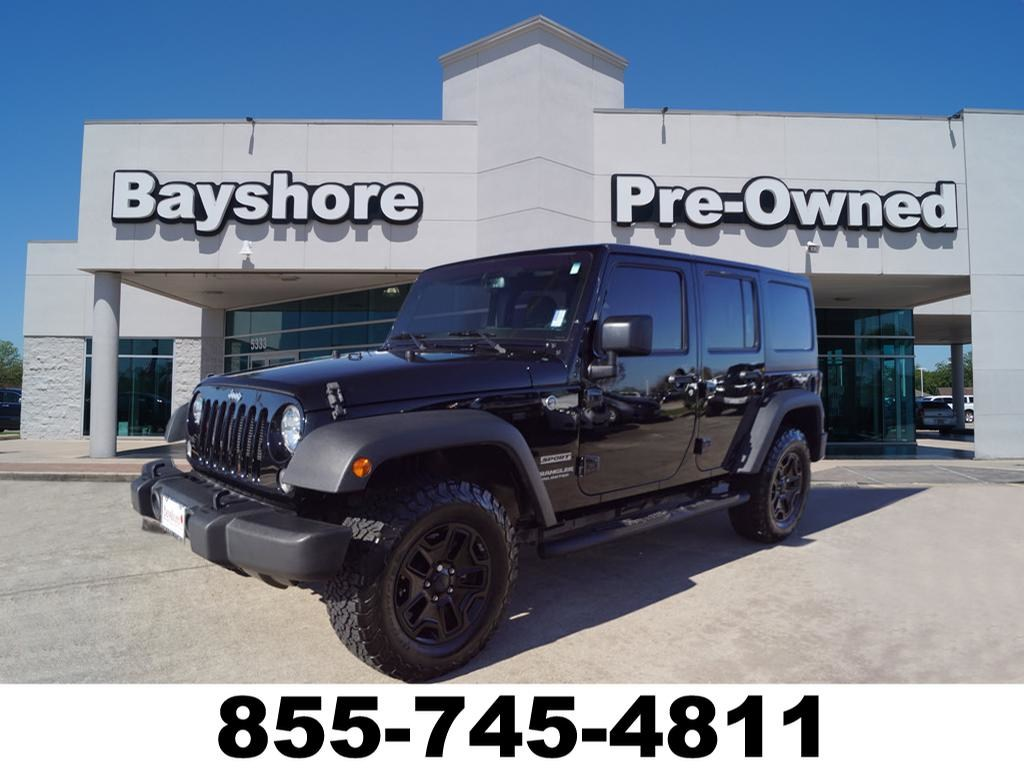 Photo 2016 Jeep Wrangler JK Unlimited 4WD Sport 4X4 SUV in Baytown, TX Please call 832-262-9925 for more information.
