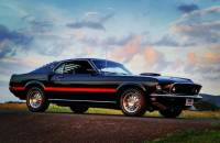 1969 Ford Mustang -MACH 1-FACTORY R CODE COBRA JET 428-DULUXE MARTI REPORT